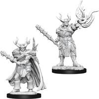 Pathfinder Deep Cuts: Unpainted Miniatures - Male Half-Orc Druid image