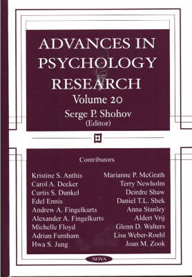 Advances in Psychology Research: Volume 20 image