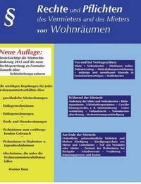 Rechte Und Pflichten Des Vermieters Und Des Mieters Von Wohnraumen by Werner Renz