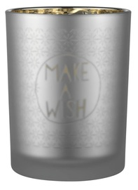 Make A Wish Glass Tealight - Gold