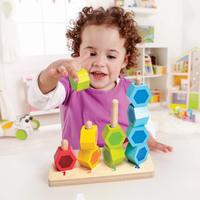 Hape: Counting Stacker - Wooden Block Set