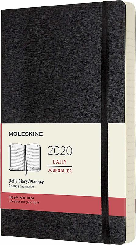 Moleskine: 2020 Diary Large Soft Cover 12 Month Daily - Black