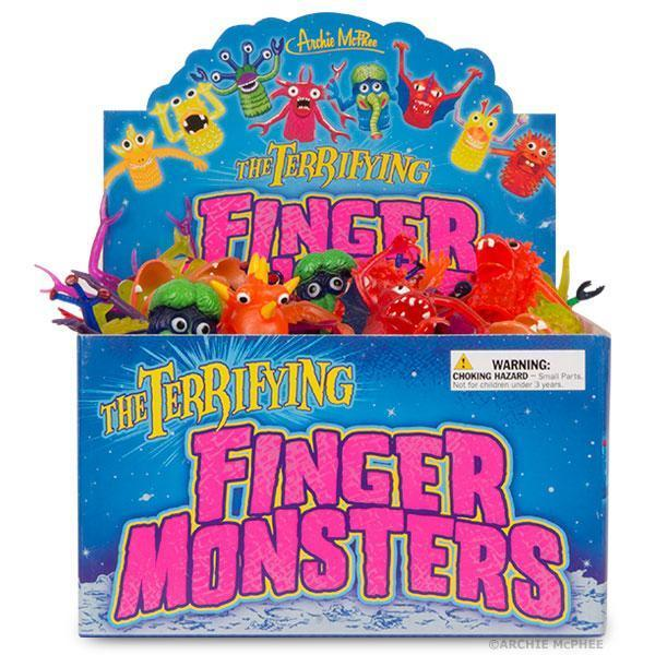 Archie McPhee: Finger Monsters - Finger Puppet (Assorted Designs) [10 Pack Bundle]