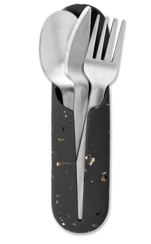 Porter: Stainless Steel Utensil Set Terrazzo - Charcoal