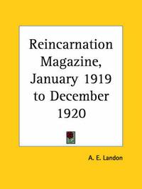 Reincarnation Magazine Vol. 5 (1919): v. 5 by A.E. Landon image