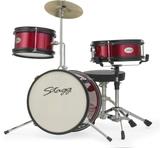 """Stagg 3pc Junior Drum Set 12"""" (Red)"""
