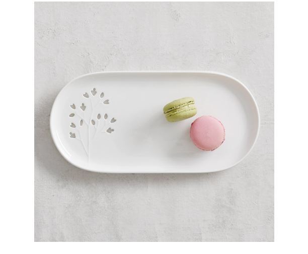 Maxwell & Williams Seed & Leaf Oblong Plate (30x15cm) image