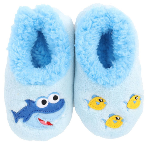 Slumbies: Shark Patch Pal - Toddler Slippers (Large)