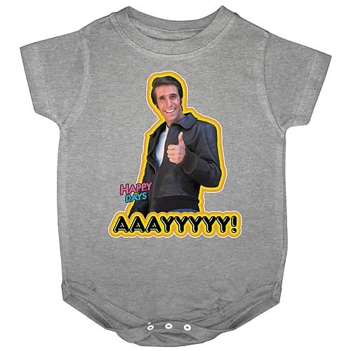 Happy Days Fonzie AAAYYYYY! Onesie (18-24 Months) image