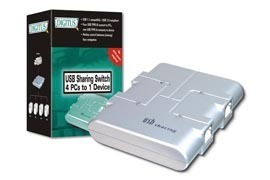 Digitus USB 2.0, 4 Way Sharing Switch