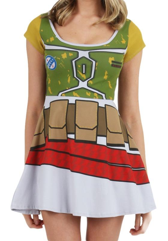 Star Wars Boba Fett Skater Dress (Large)