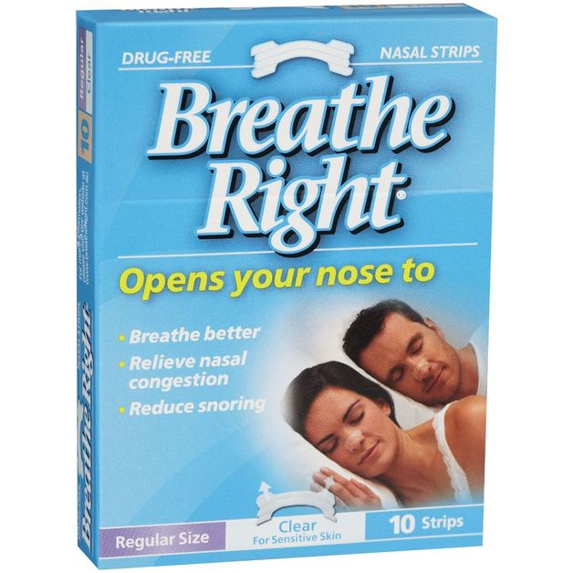 Breathe Right Nasal Strips Clear Regular (8 Pack)