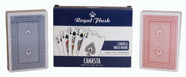 Royal Flush: Canasta Playing Cards - 2-Pack