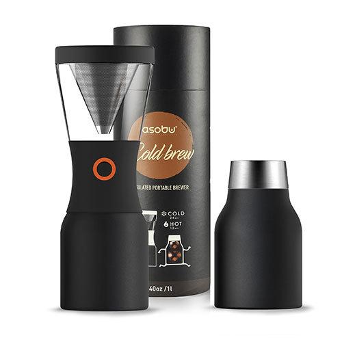 Asobu: Cold Brew Insulated Portable Brewer (Black/Black)