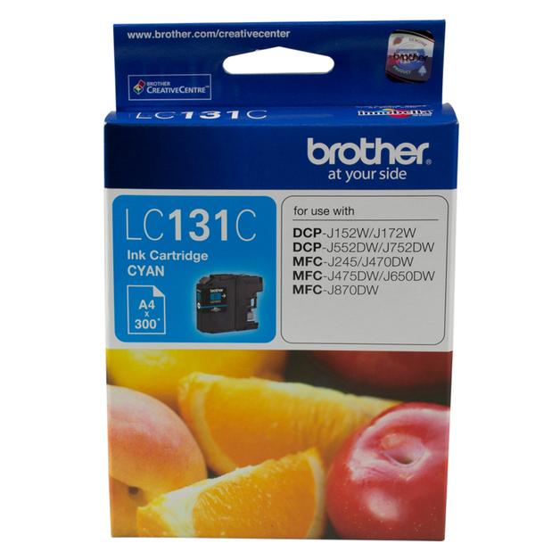 Brother LC-131C Ink Cartridge (Cyan)