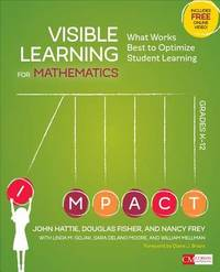 Visible Learning for Mathematics, Grades K-12 by Nancy Frey