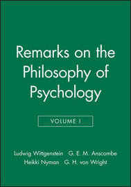 Remarks on the Philosophy of Psychology, Volume 1 by Ludwig Wittgenstein