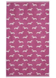 Emily Bond Bath Towel - Pink Dachshunds