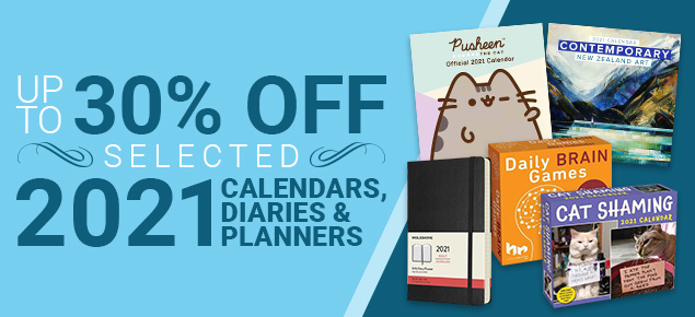 Up to 30% off 2021 Calendars, Diaries & Planners!
