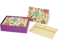 Folk Art Birds Boxed Note Cards (14 Cards/Envelopes) image