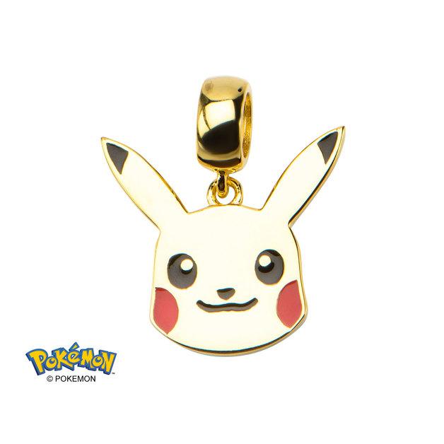 Pokemon Pikachu Gold Sterling Silver Dangle Charm