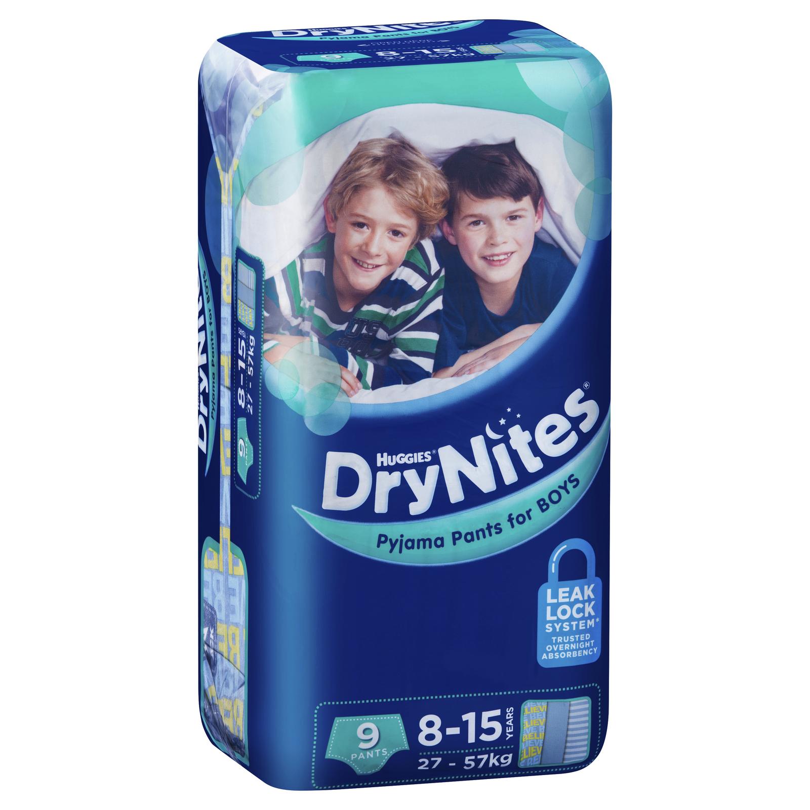 Huggies DryNites Pyjama Pants - 8-15 Year Boy 27-57 kg (9) image