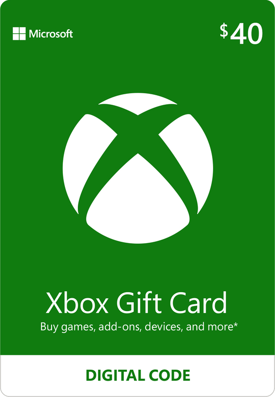 Xbox Live $40 Gift Card (Digital Code) for Xbox One