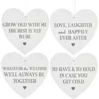 Wedding Heart Plaque - Grow Old With Me