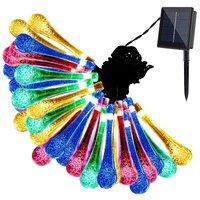 30 LED Solar Water Drop Fairy String Light - MultiColour