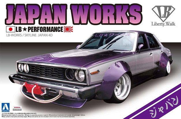Aoshima: 1/24 Nissan Skyline LB Works Japan 4Dr Model Kit
