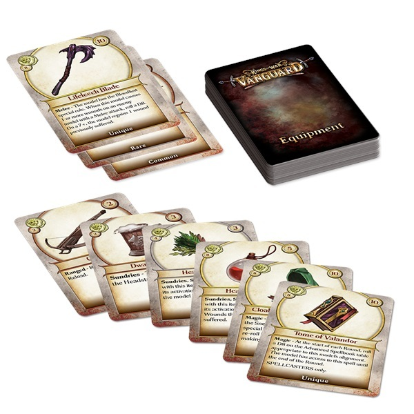 Kings of War Vanguard Equipment Cards