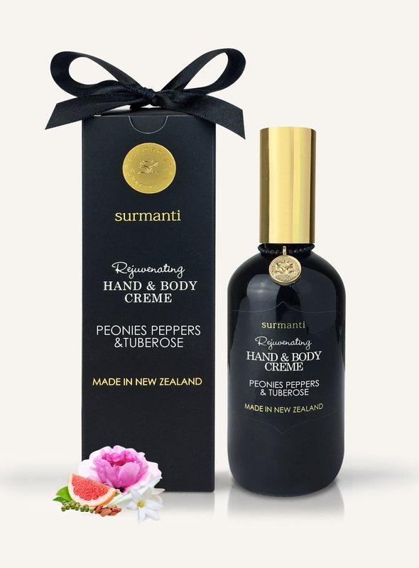 Surmanti Hand + Body Creme - Peonies, Peppers & Tuberose (120ml)