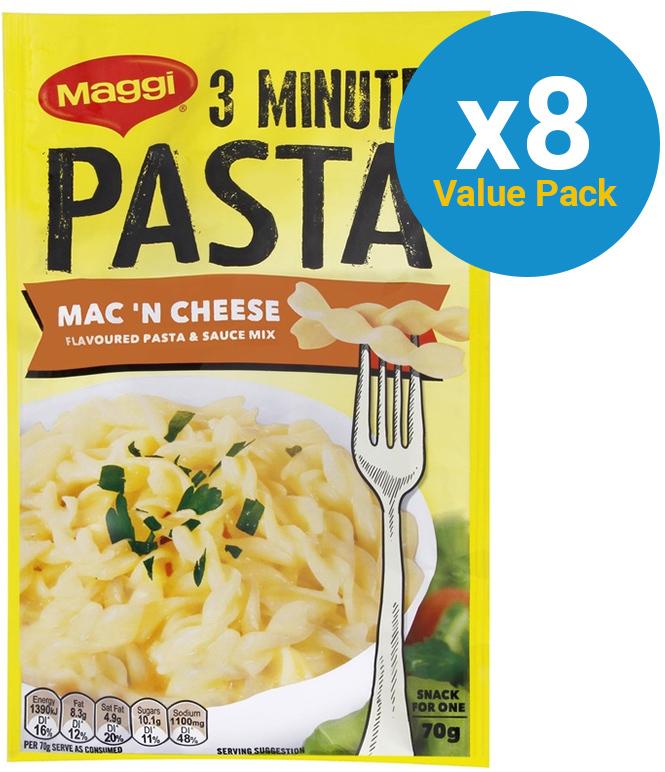 Maggi 3 Minute Pasta - Macaroni Cheese 70g (8 Packs) image