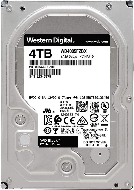 "4TB WD Black 3.5"" 7200RPM SATA Performance HDD"