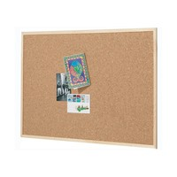 Quartet Pine Frame Cork Board - 450mm x 600mm