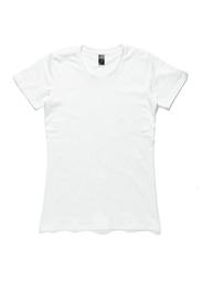 Women's Basic Round Neck T-Shirt - White (X-Large)