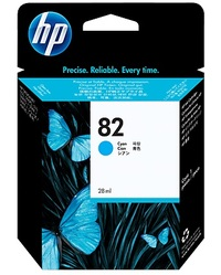 HP No. 82 Cyan Ink Cartridge image