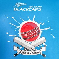 Black Caps Supporters Tee - Azure Blue image