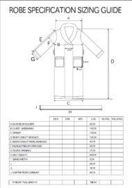 Bambury Denim Microplush Robe (Large/Extra Large) image