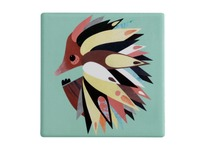 Maxwell & Williams: Pete Cromer Ceramic Square Tile Coaster - Echidna (9.5cm)