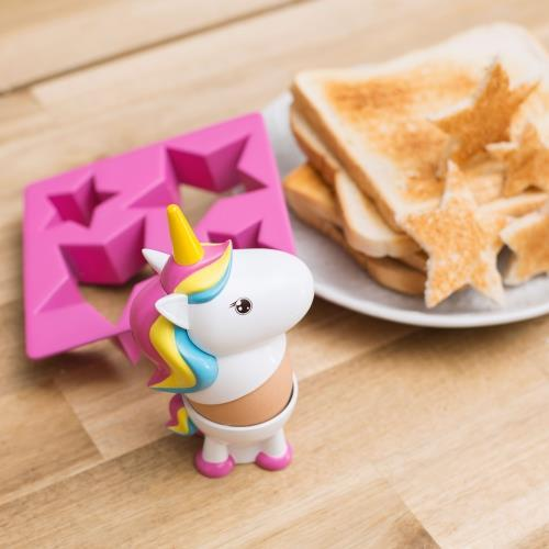 Unicorn Egg Cup and Star Toast Cutter Set