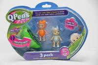 QPeas: Posable Mini Dolls - 3-Pack (Grace & Fraya)