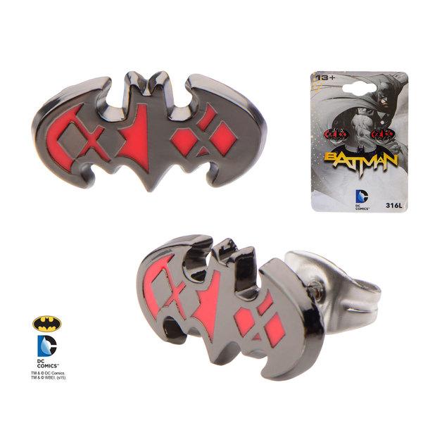 Batman & Harley Quinn Stud Earrings