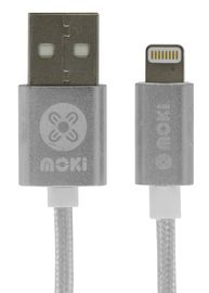 Moki Lightning SynCharge Cable - Silver 90cm