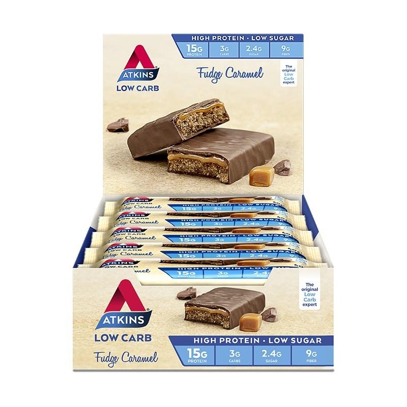 Atkins Advantage Bars - Fudge Caramel (15 x 60g) image