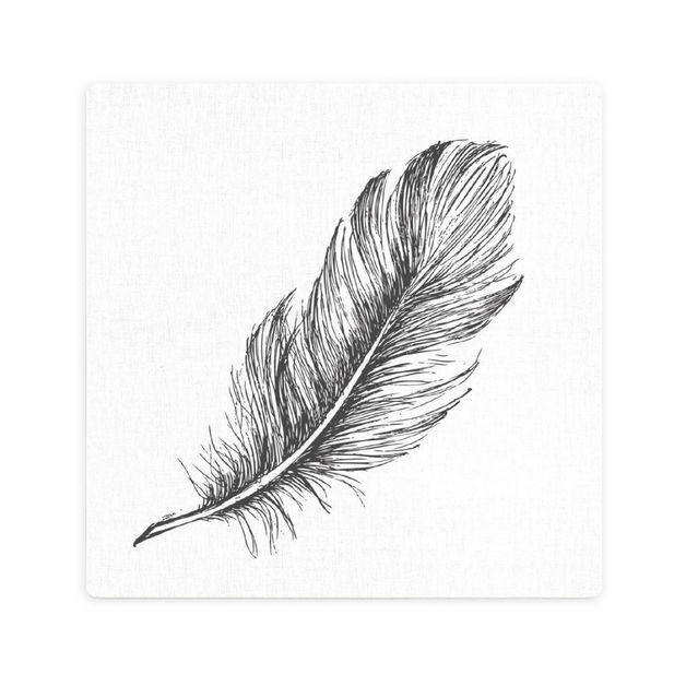 Splosh: Tranquil Feather Print Ceramic Coaster