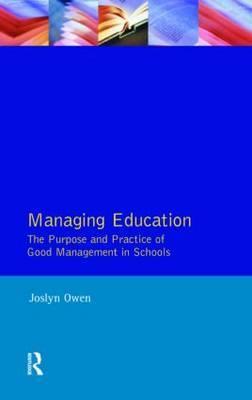Managing Education by Joslyn Owen image