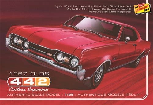 Lindberg: 1/25 1967 Oldsmobile 442 - Model Kit