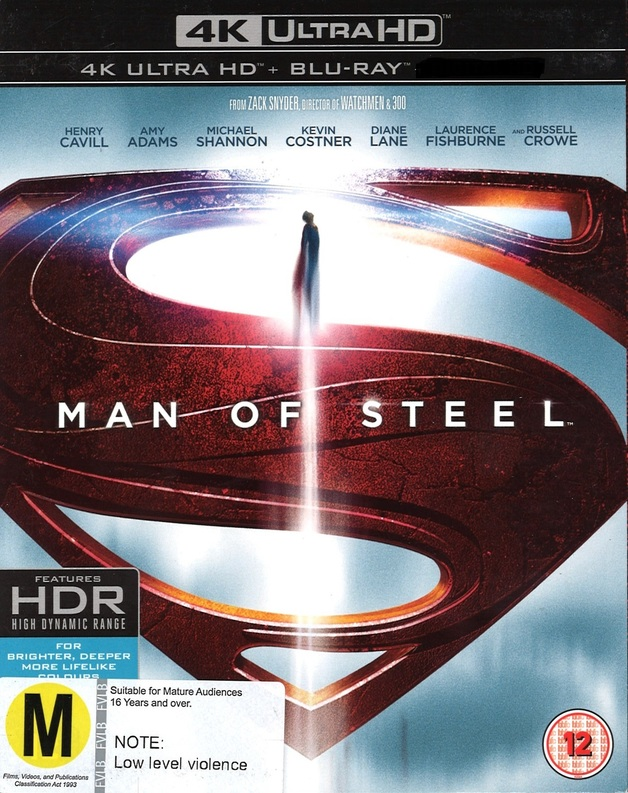 Man Of Steel on Blu-ray, UHD Blu-ray