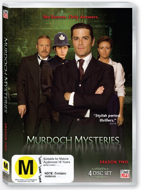 Murdoch Mysteries - Season Two (4 Disc Set) on DVD